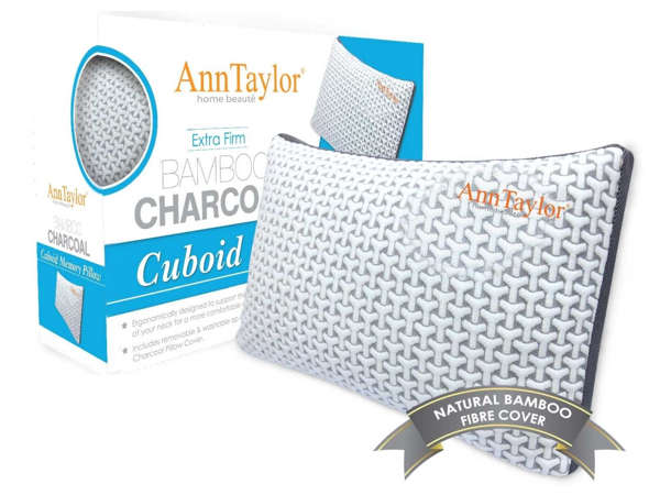 Ann Taylor Bamboo Charcoal Cuboid Memory Pillow