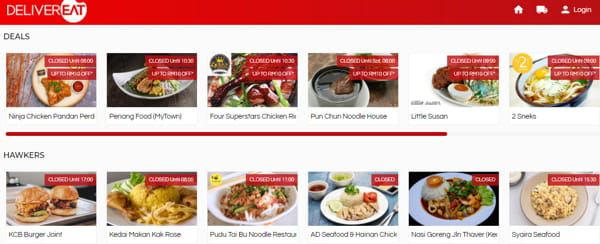 Deals And Hawker Food Options On DeliverEat