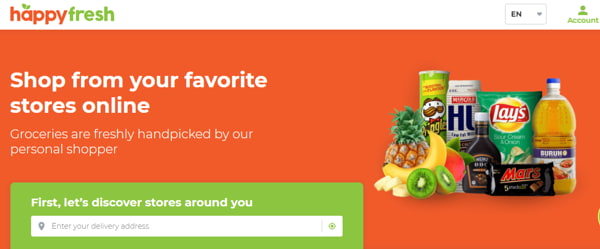 Discover Stores Around You With HappyFresh