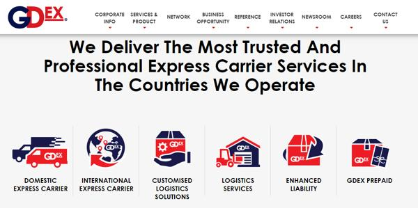 GDEX Has Both Domestic And International Express Delivery Services