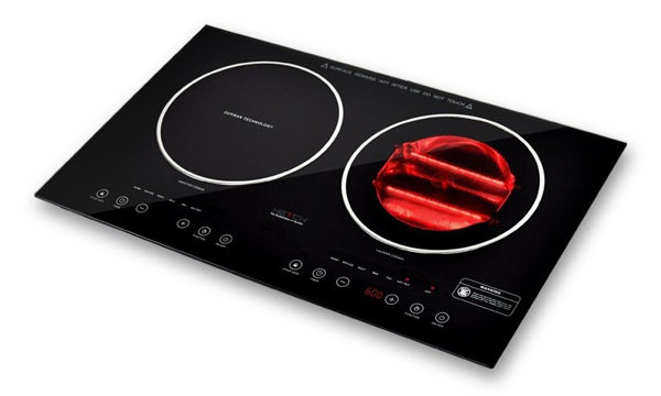 HETCH 2-In-1 Induction + Halogen Cooker HIC-1702-HC