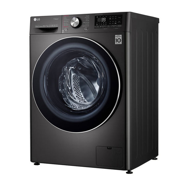 Mesin Basuh Pengering AI Direct Drive Dengan Steam LG FV1450H2B 10.5 Or 7kg