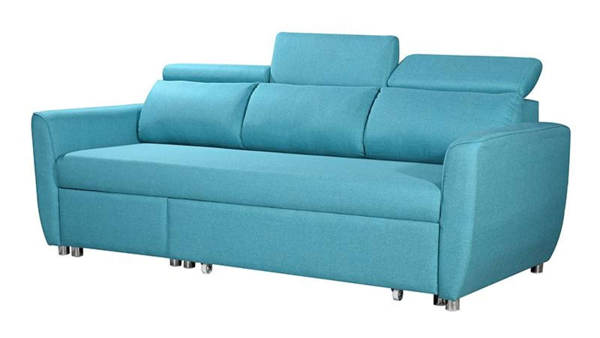 Lavino Terre 3 Seater L-Shape Sofa Bed - Blue