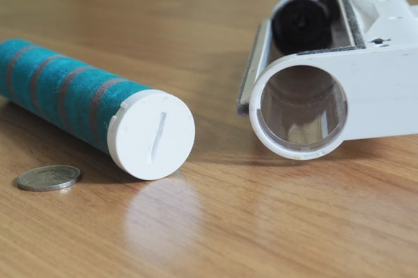 Roller Brush Removed From The Corvan K9 Cordless Vacuum