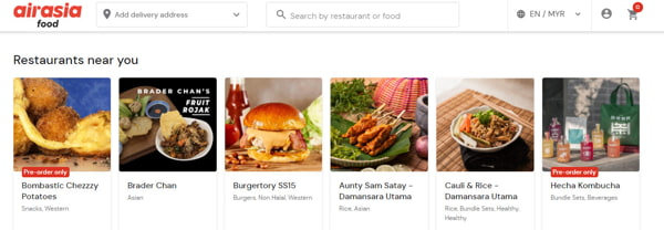 Some Food Options On AirAsia Food