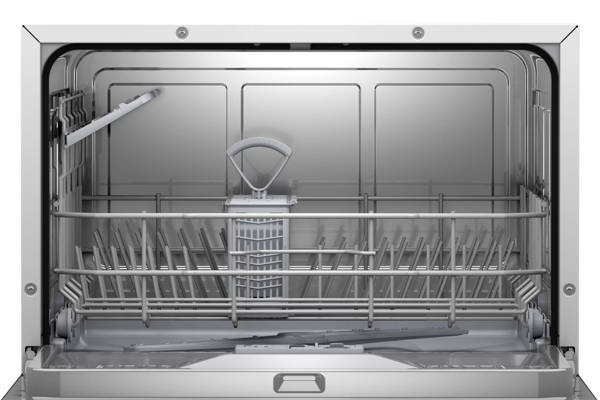 Storage Racks Inside Bosch SKS62E32EU Series 4 Compact Dishwasher