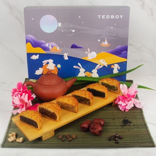 Tedboy Mooncake Reunion Gift Set With Different Assorted Flavors