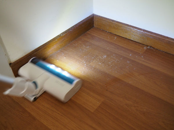 The Corvan Cordless Vacuum Lighting Up A Dusty Corner