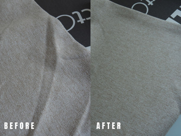 Thick Linen (Before And After Ironing)