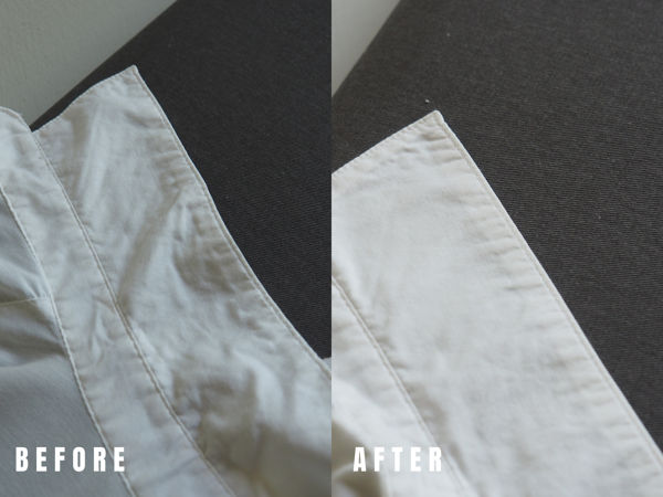 Thin Cotton Collar (Before And After Ironing)