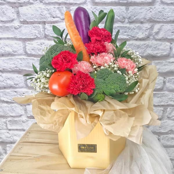Vegetable Bouquet by Only Love Florist