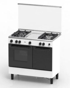 ZANUSSI ZCG940W 62L 4 Gas Burner With Gas Oven Cooker