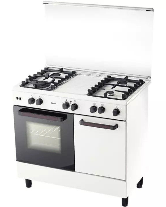 Zanussi 4 Gas Burners With 62L Electric Oven Cooker ZCG942
